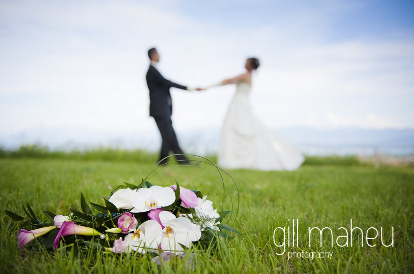 in love and dancing on their wedding day - copyright gill maheu photography 2012